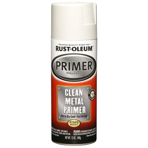 spray paint primer for metal rust oleum automotive 12 oz white clean metal primer