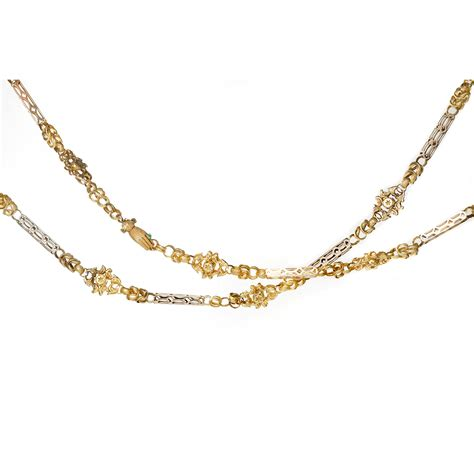 gold chain for jewelry a la vieille russie antique gold chain with
