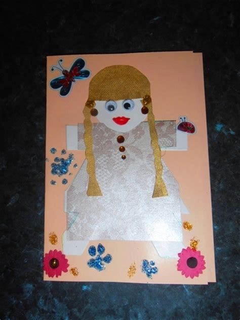 paper dolls craft paper doll card my kid craft