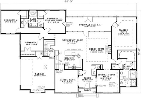 house plans with 3 master suites two master suites 59914nd 1st floor master suite cad