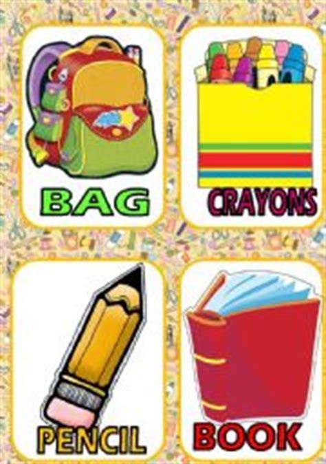 card supplies worksheet school supplies flash cards