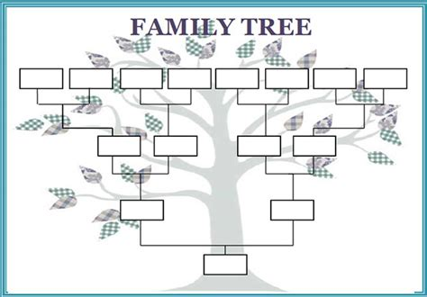 large tree template best photos of large blank family tree template