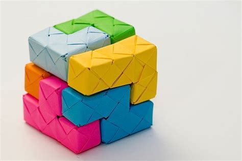 origami blocks origami soma cube blocks
