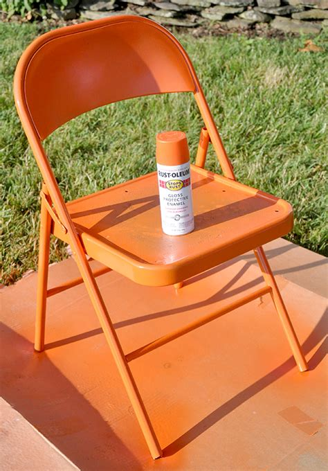 spray painting metal chairs fabulous metal folding chair makeover jacquelynne steves