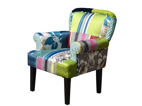 patchwork chair foxhunter patchwork chair fabric vintage armchair seat