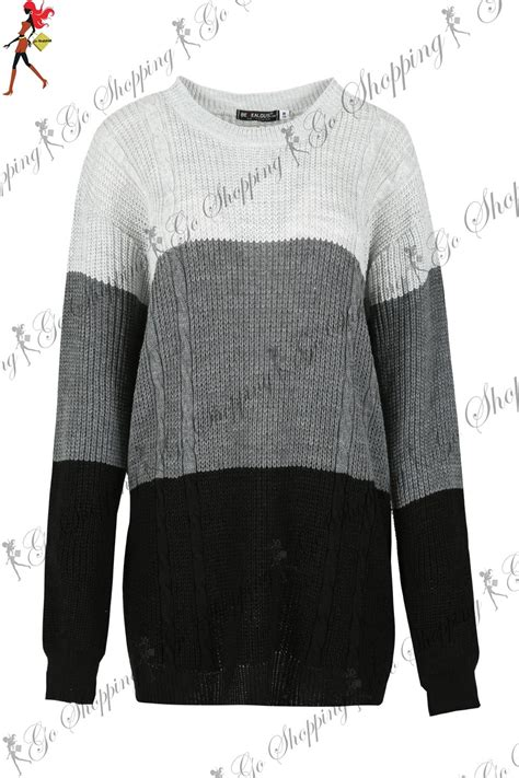 how to block a knit sweater womens block panel cable knit contrast top sweater
