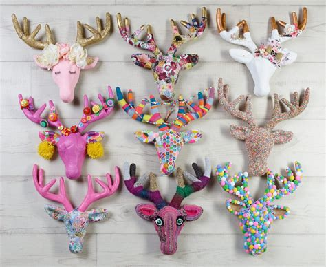 paper mache craft ideas decorating papier mache deer heads