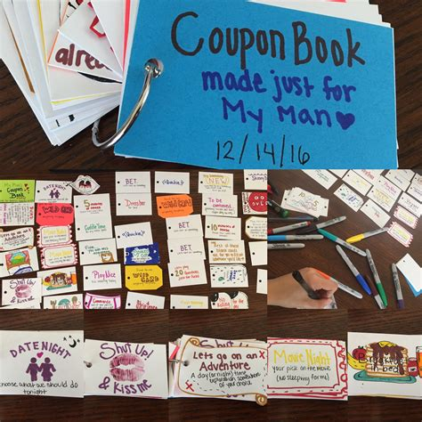 picture book for boyfriend a coupon book made for my boyfriend as a gift