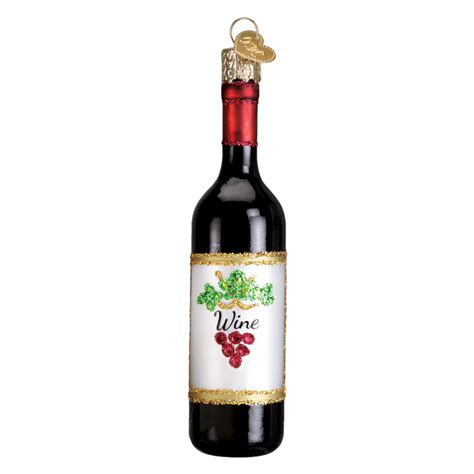 wine bottle ornaments wine bottle 32291 world ornament