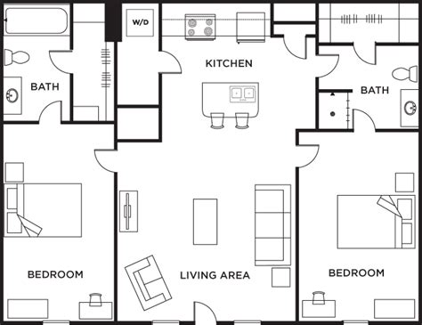 two bed two bath floor plans 2 bedroom 2 bath floor plans gurus floor