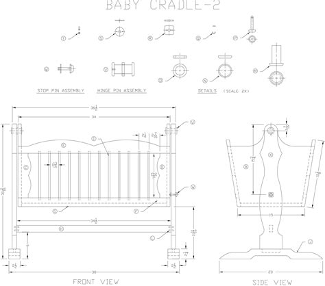 cradle woodworking plans wooden baby cradle modified plan woodworking plans from