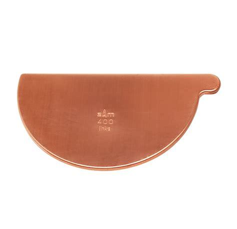 stop end bead copper gutter 200mm half x 6m bead