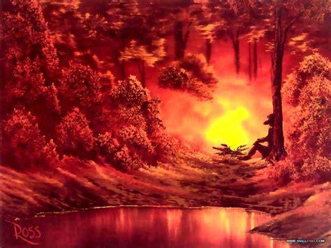 bob ross painting sun rays pinturas al oleo imagenes de bob ross taringa