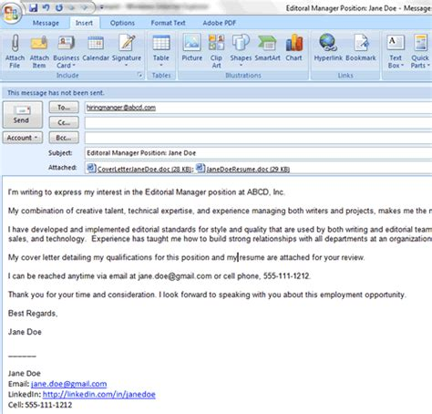 email cover letter ecover letter cover letter email cover