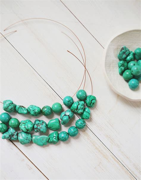 how do you make jewelry how to make a simple beaded necklace a beautiful mess