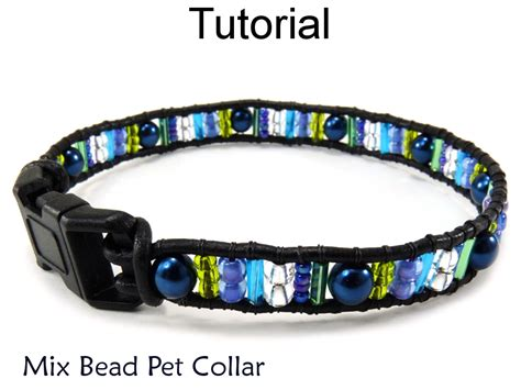 how to make a beaded leash beading tutorial pattern beaded cat pet collar