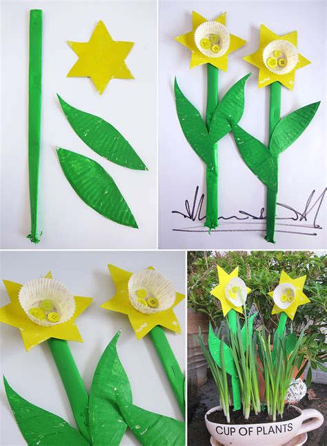 daffodil craft for mollymoocrafts paper plate cupcake daffodils mollymoocrafts