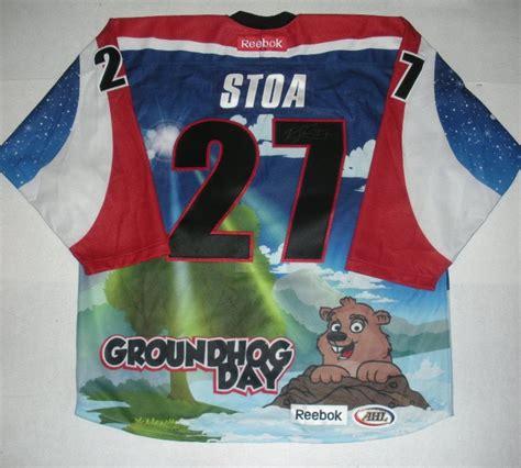 groundhog day auction stoa hershey bears groundhog day autographed