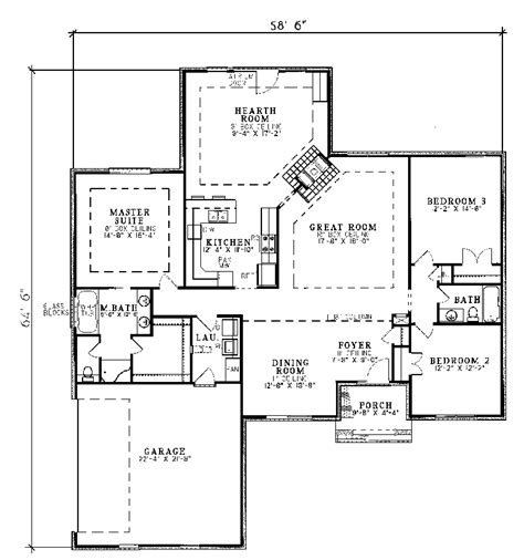 traditional floor plans harrahill traditional home plan 055d 0031 house plans and more