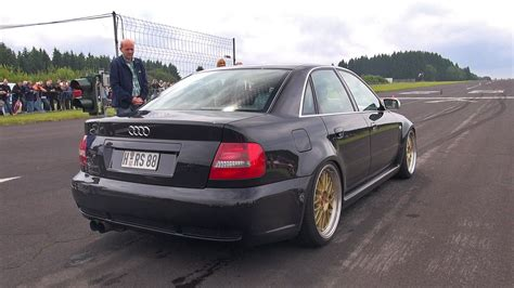 Audi B5 S4 by 1000hp Audi S4 B5 Anti Lag Sound Flames Accelerations