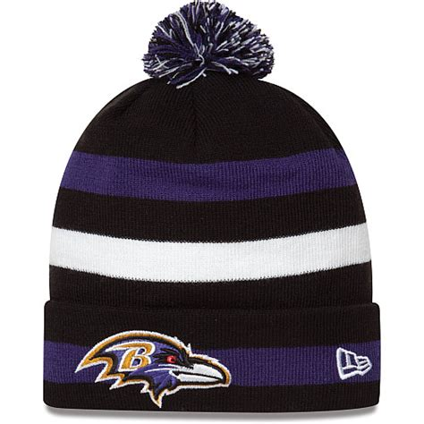 ravens knit hat baltimore ravens on field sport knit hat frank s sports shop