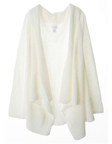 knit sweater cardigan cozy chunky knit open drape front cardigan sweater