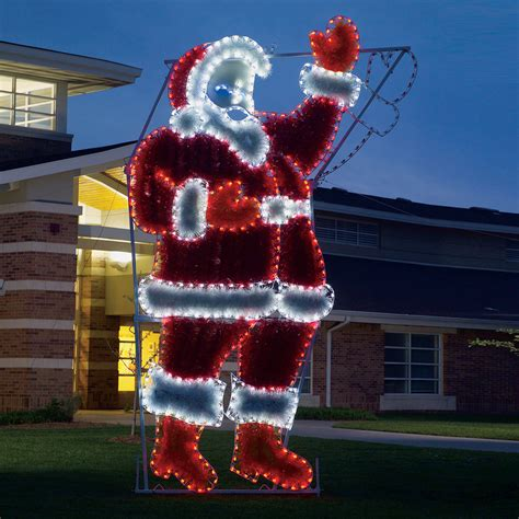 outdoor santa decorations shop lighting specialists 17 ft animated waving