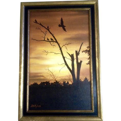 acrylic paint on black canvas h d flyer acrylic painting dead tree with black birds