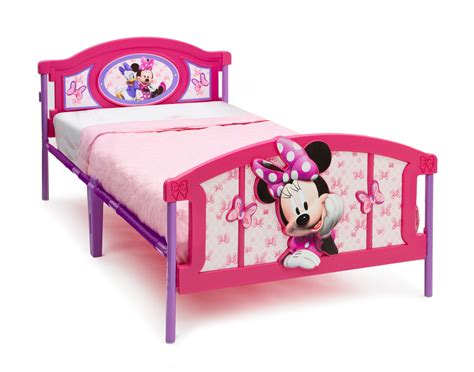 minnie mouse bed frame delta children minnie mouse plastic 3d bed baby