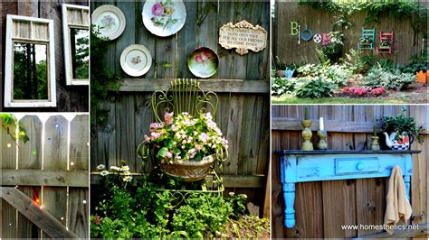 backyard ideas decorating get creative with these 23 fence decorating ideas and