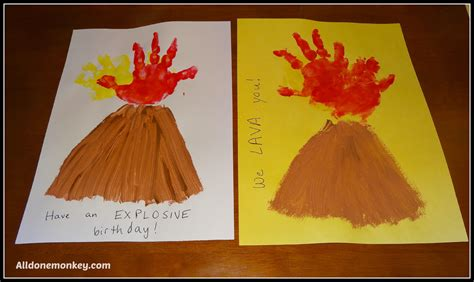 volcano crafts for print volcano card all done monkey