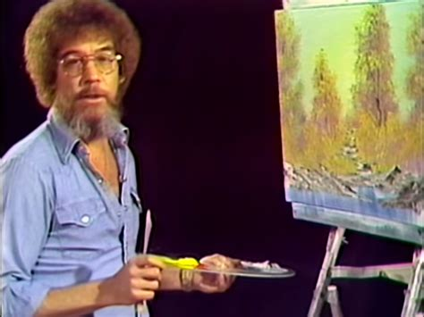 bob ross paints new happy eclouds episode of of painting