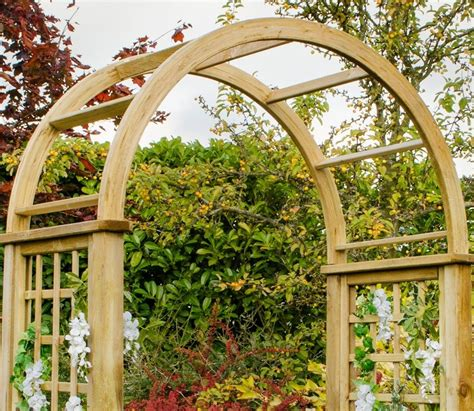 Garden Arch Materials Florence Arch From Forest Garden Products Gardensite Co Uk