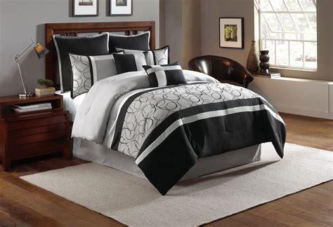 grey bed comforter sets 8 blakely black gray comforter set