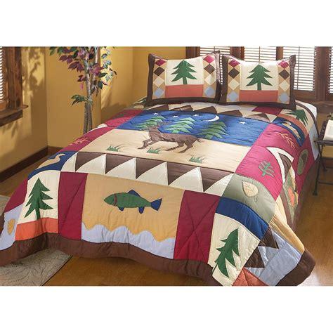 deer comforter set whitetail deer forest comforter set 142631 quilts at
