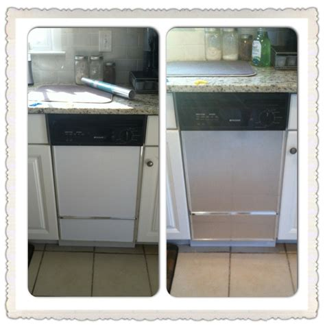 home depot paint paper diy project transform appliances to look like new