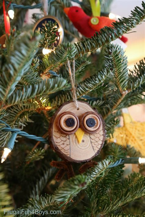owls ornaments how to make adorable wood slice owl ornaments and an owl