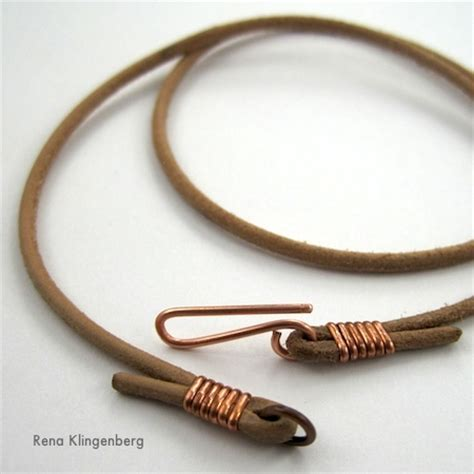 leather for jewelry leather choker for pendants tutorial jewelry