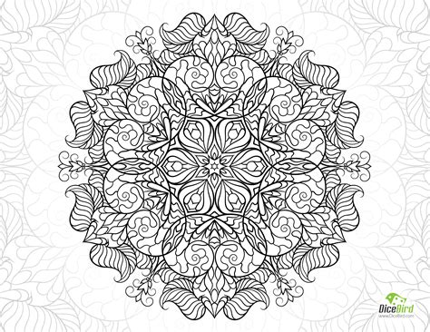 snail mandala flower free hard coloring pages