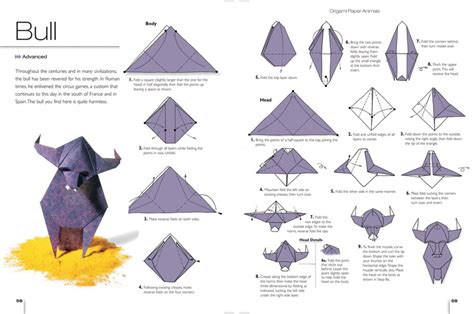 origami pattern cool bull origami diagram 2016