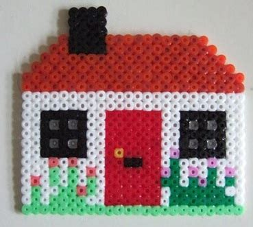 hama house design buildings patterns hama bead patterns