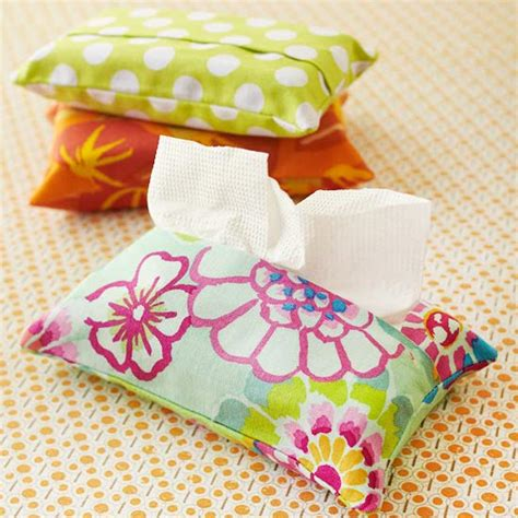 easy sewing crafts for tissue pack cover sewing projects and sewing patterns