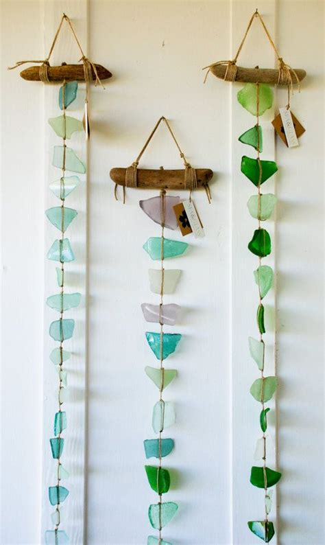 hanging craft projects summer glass diy project sea glass wall