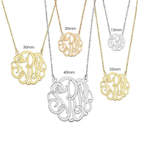 how to make monogram jewelry alison and classic monogram necklace 40mm