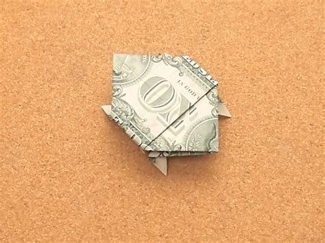 turtle origami dollar bill how to make a turtle out of a dollar bill 14 steps