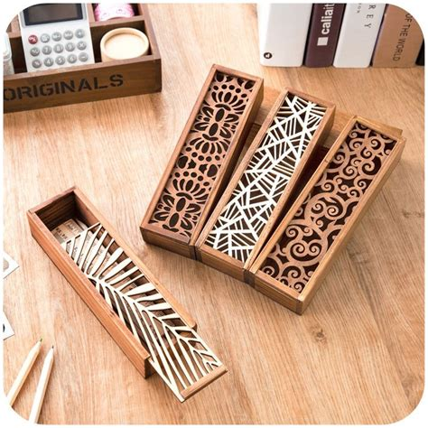 decorative woodwork best 25 wooden pencil box ideas on wooden
