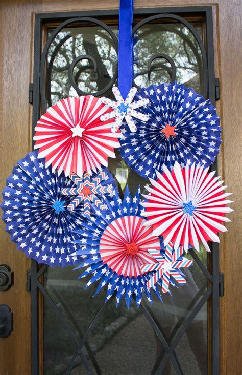 paper fireworks crafts 4th of july wreath design improvised