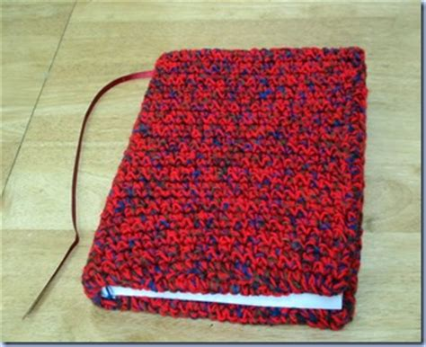 knitted book cover pattern free back to school covers for books binders notebooks