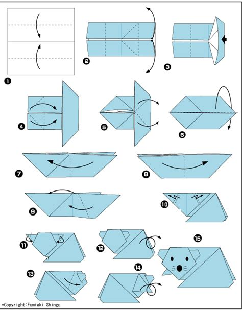 origami mouse diagram origami mouse diagram from paper to