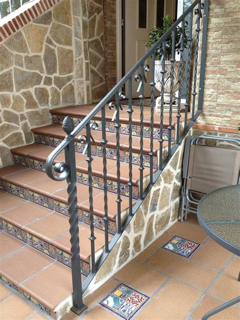 barandillas de forja para escaleras de interior barandillas para escaleras de hierro y forja en madrid